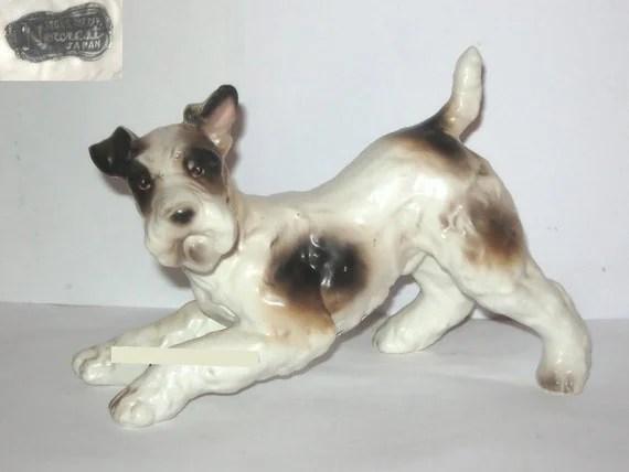 Norcrest Japan A243 Wire Fox Terrier Dog Animal Figurine Brown