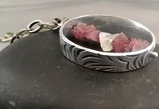 Raw Gemstone Necklace   U...