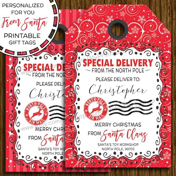 PRINTABLE Christmas Gift Tags From Santa Gift Tags