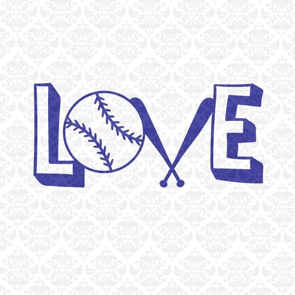 Download Love Baseball Softball Fast Pitch Monogram Heart SVG ...