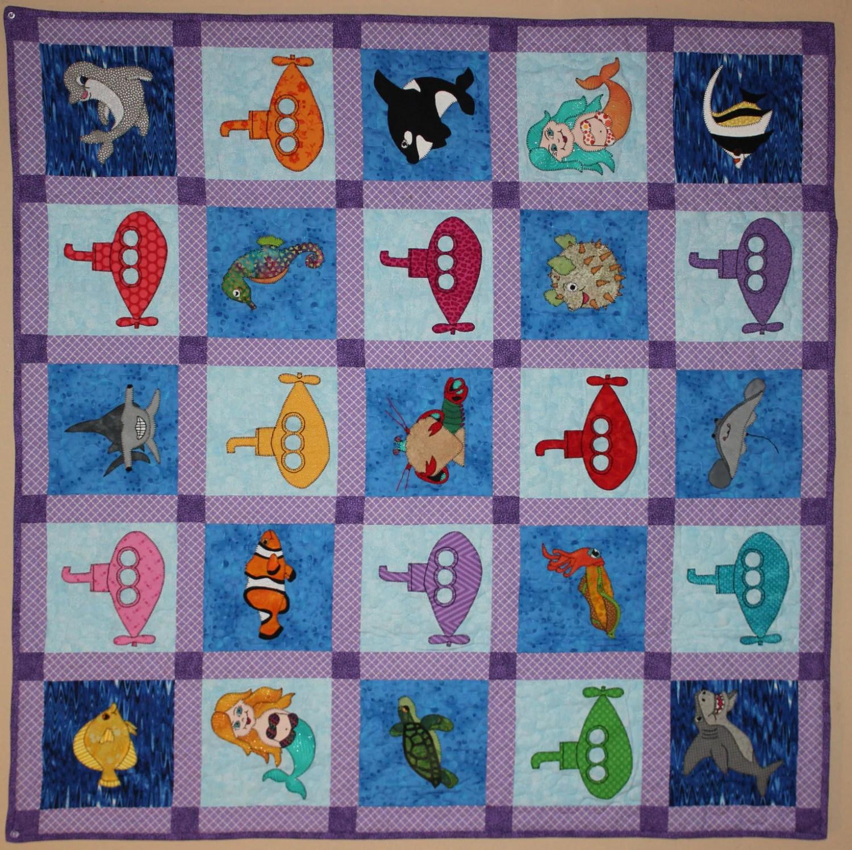 Ocean Animal Quilt Pattern Ocean Adventure Quilt