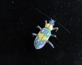 Beetle Bug brooch - insec...