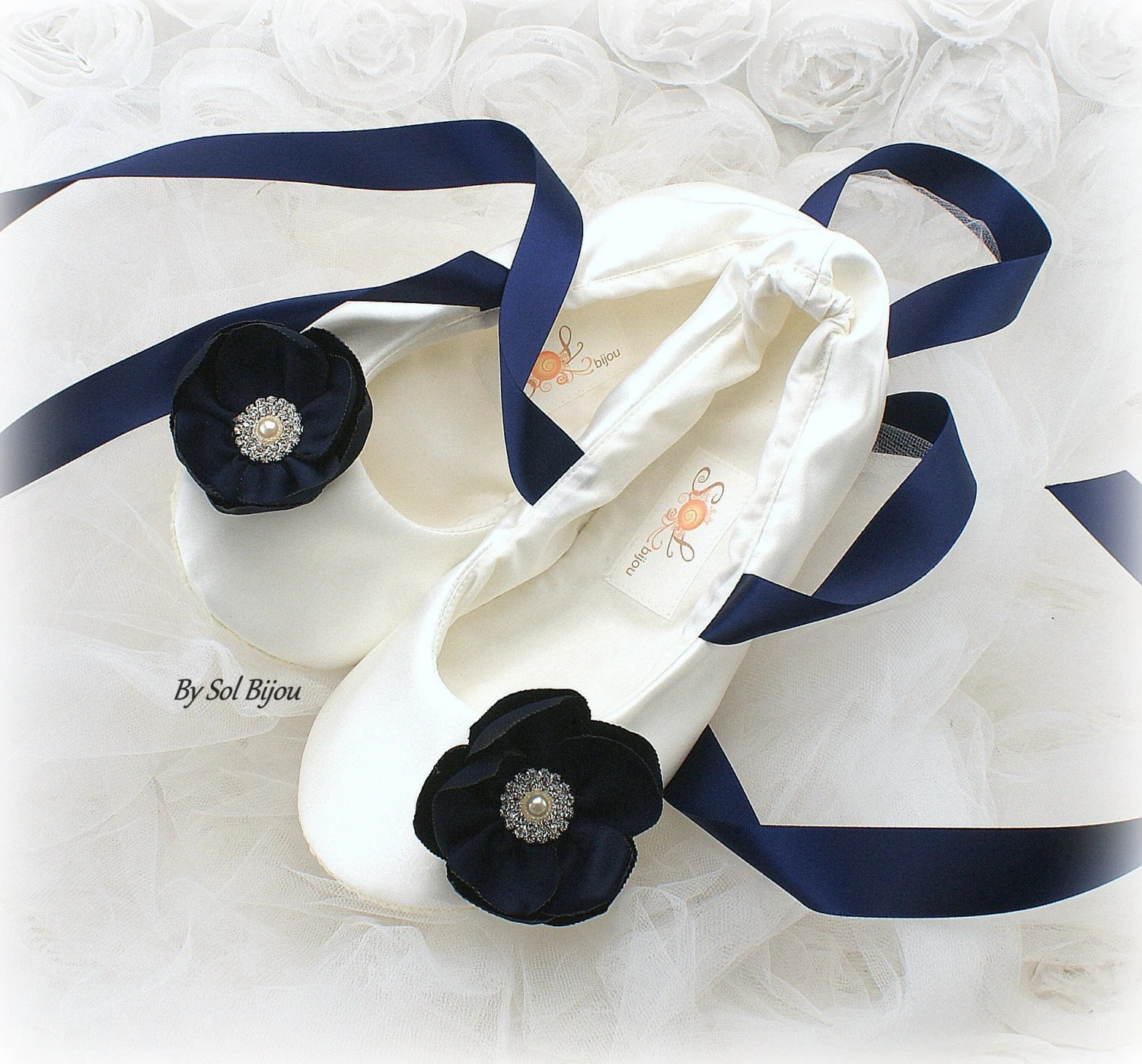 Navy Wedding Flats