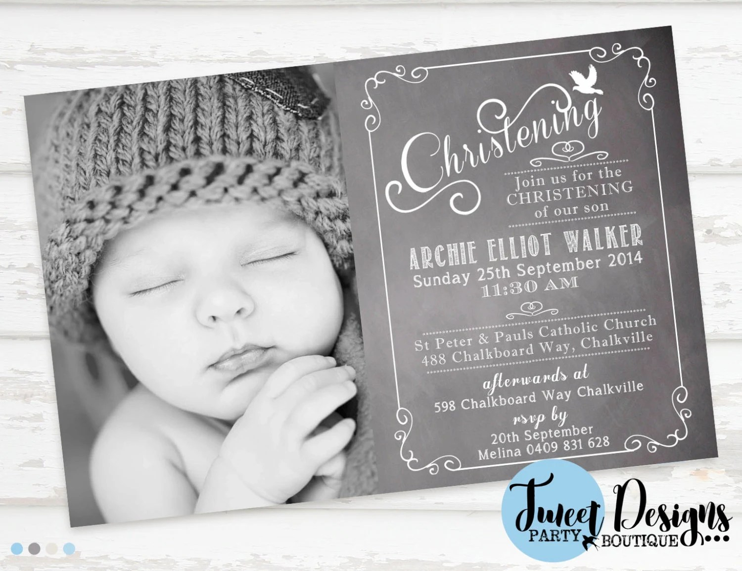 Kinkos Baptism Invitations