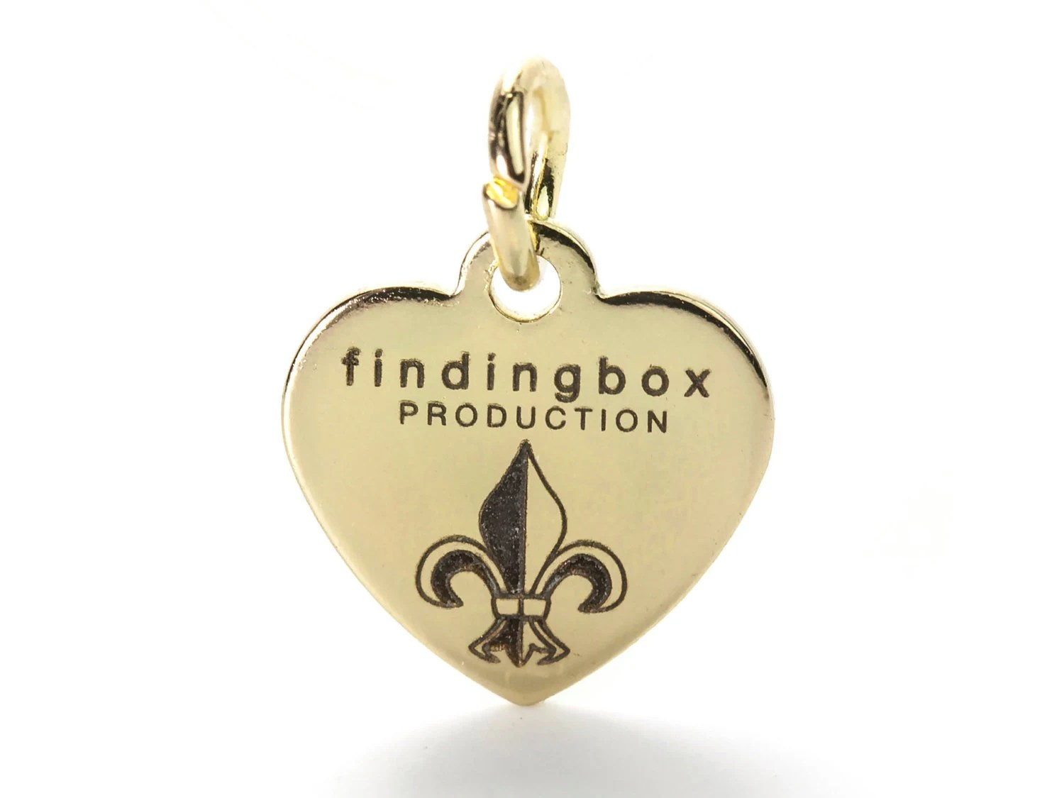 14K Gold Plated Custom Jewelry Tag Laser Engraved Logo On