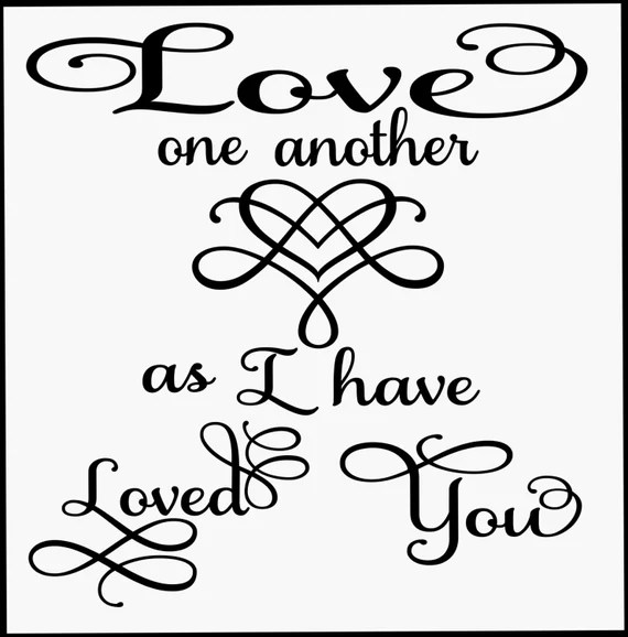 Download Items similar to Love One Another svg file on Etsy