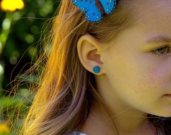 blue butterfly clip etsy