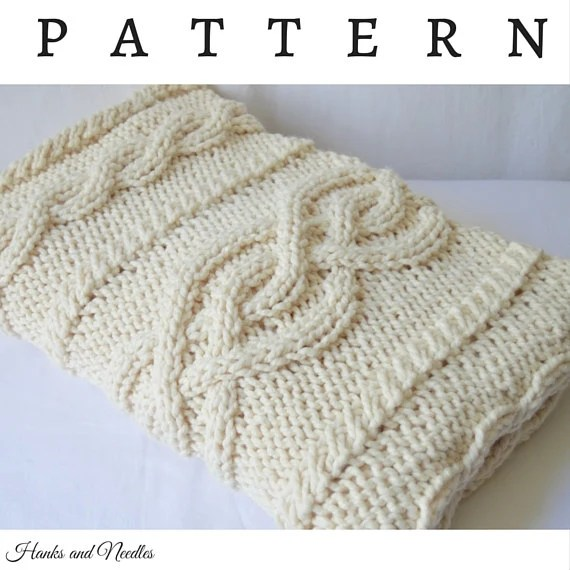 Cable Knit Throw Pattern