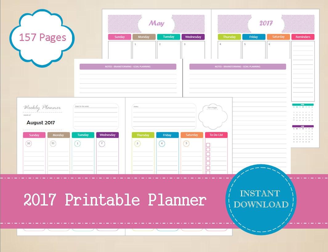 Printable Planner Half Page Weekly Planner