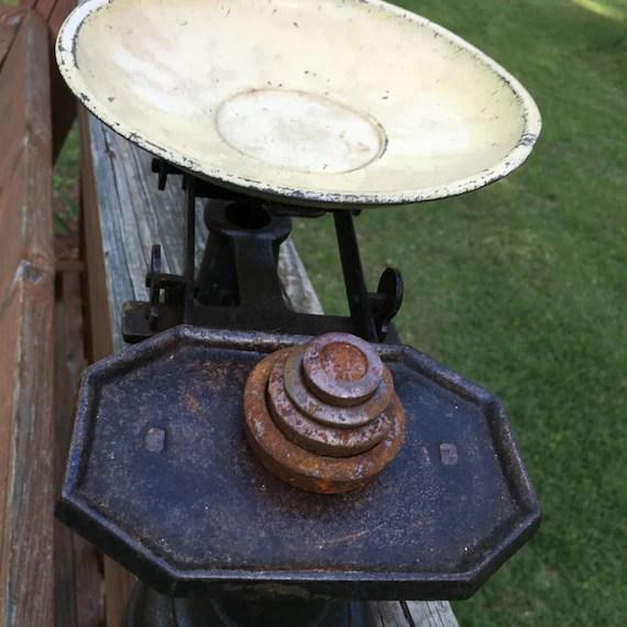 Metal Scales Vintage Scales Food Scales Rustic By MaggieBleus