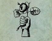 Hand Holding a Rose Senti...
