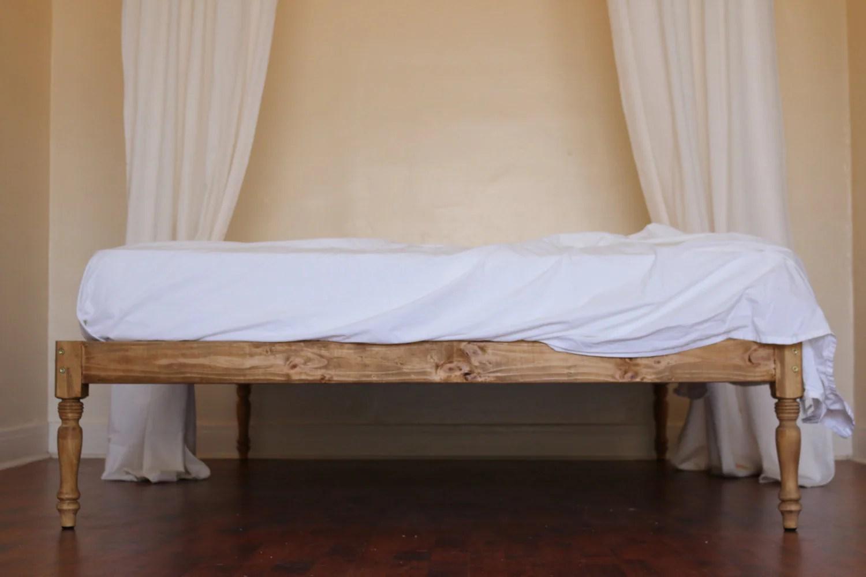 Platform Bed Bed Frame Bohemian Wood Rustic Boutique on Modern Boho Bed Frame  id=81464