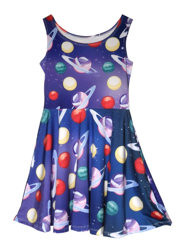 Planets Dress in the Galaxy Dress Space Outer space Universe