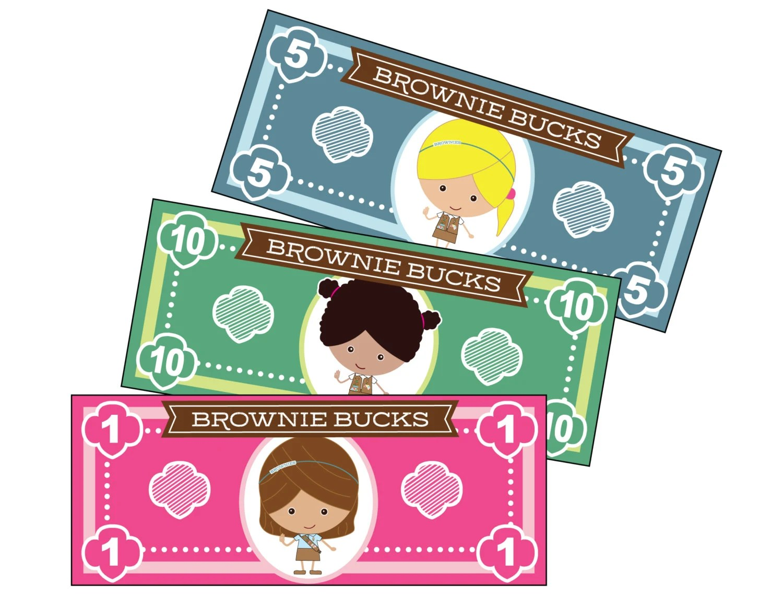 Girl Scout Brownie Bucks Printable Instant Download