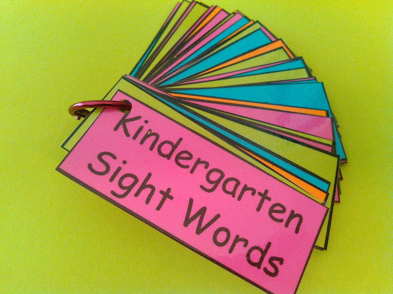 Kindergarten Sight Words Dolch Words Kindergarten Words