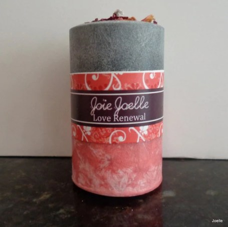 Love Renewal Red and Black Ritual Spell Candle, Altar Candle, Spiritual Candle