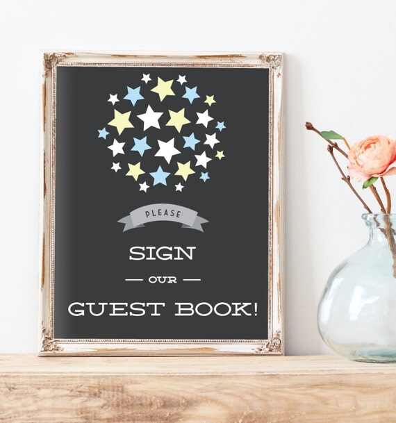 Sign Our Guest Book Stars Guest Book Sign Starry Guest