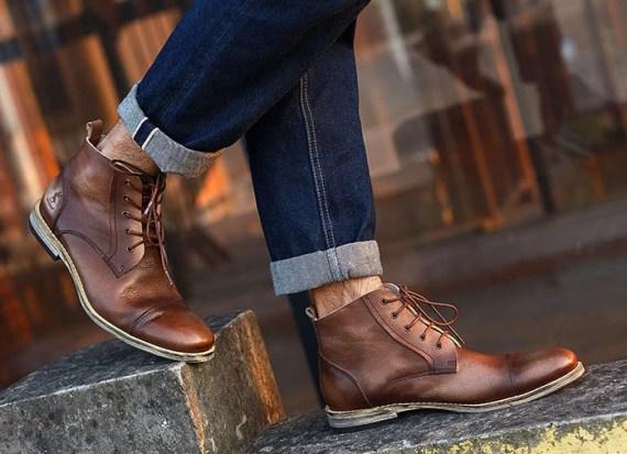 Men's Handmade Leather shoes/Men's shoes /original vintage Martin boots /short boots -KD4
