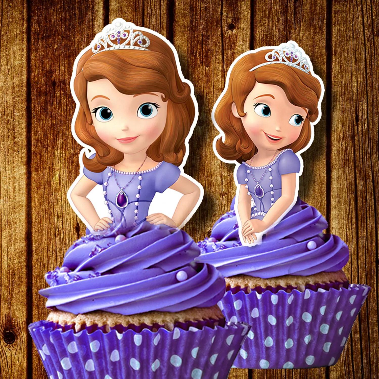Printable Sofia The First Cupcake Toppers Sofia Cupcake