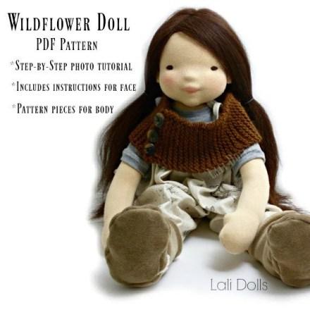 PDF Pattern Wildflower doll