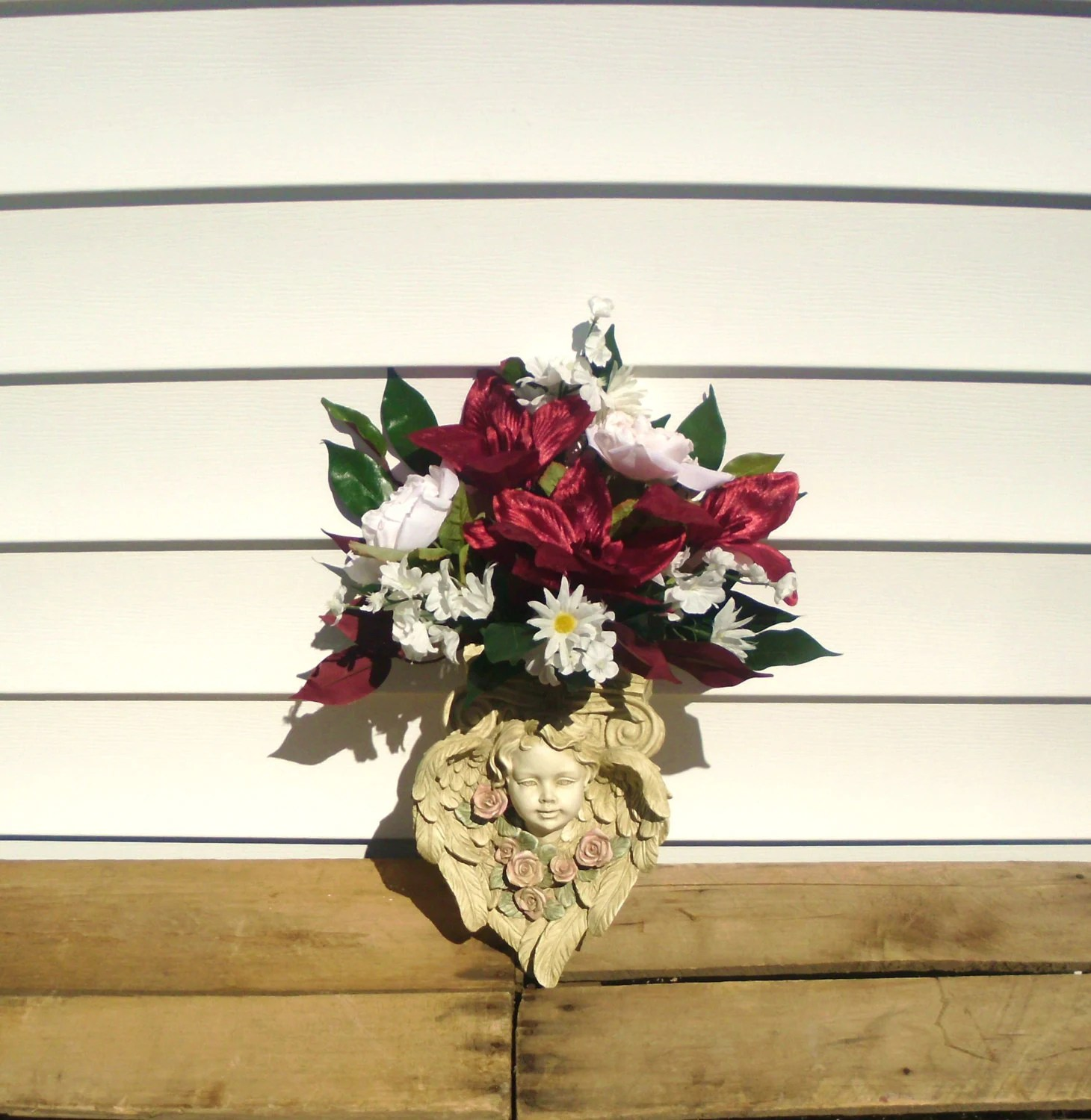 Wall Sconce Arrangement Angel wall Sconce Container Floral on Candle Wall Sconces With Flowers id=46680