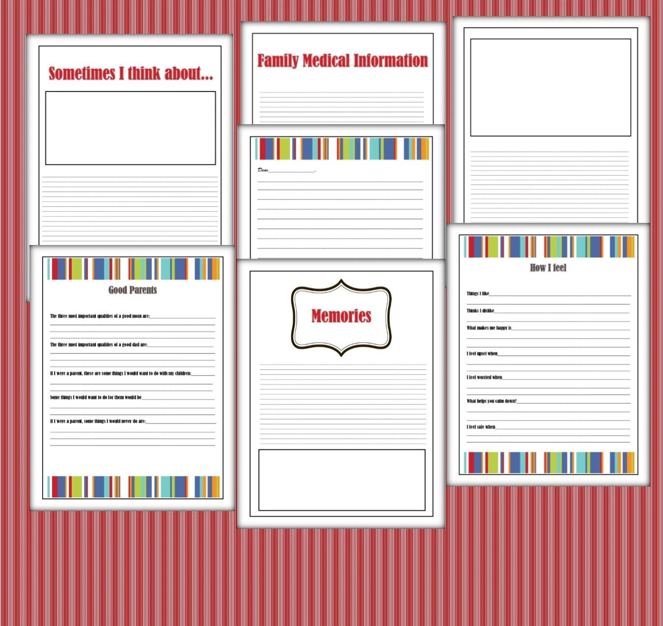 Foster Care Lifebook Life Story Book Printable 41 Pages