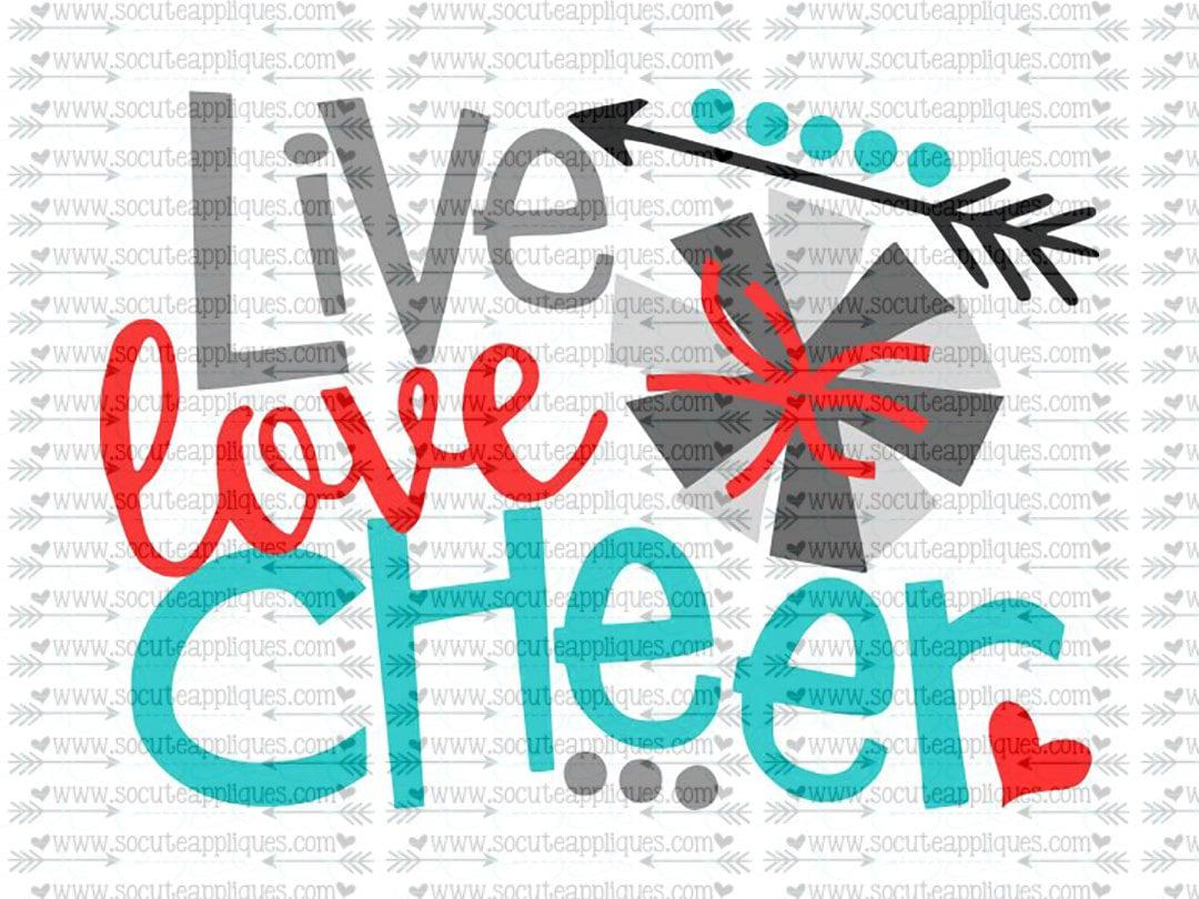 Download SVG DXF EPS Cut file Live love Cheer svg team spirit svg