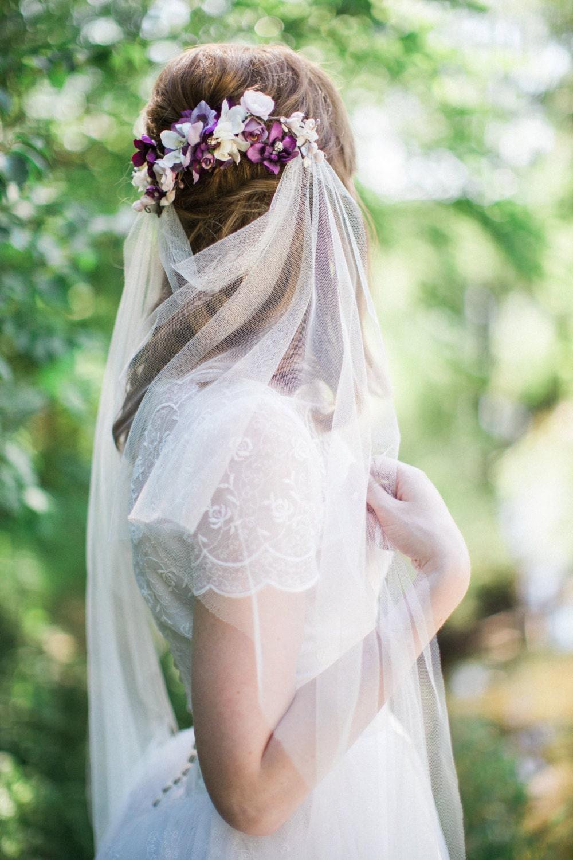 Drape Veil Boho Veil Bohemian Wedding Veil Tulle Veil