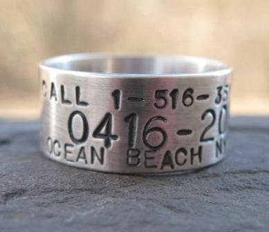 Personalized Sterling Silver Goose Duck Band Ring Custom
