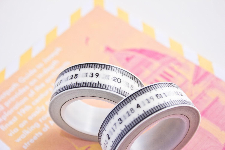 Washi Tape Metric Measuring Tape Numbers Masking Tape