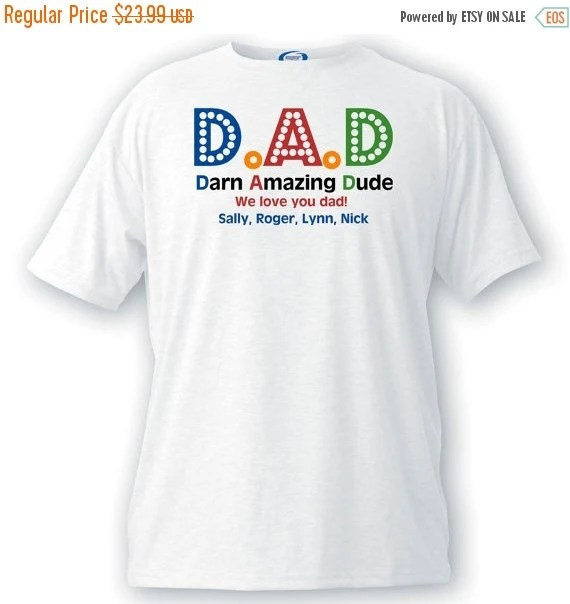 Personalized Father's Day T-Shirt - Gifts for Dad - Dad T ...