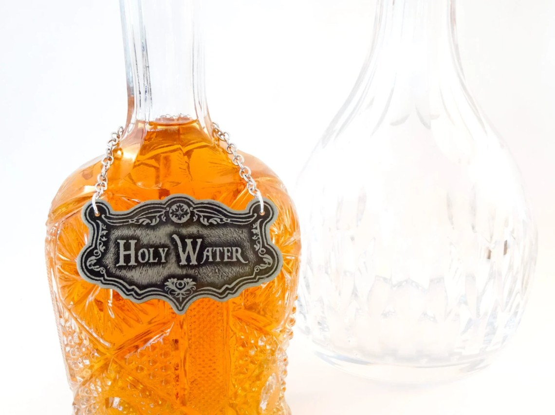 Holy Water Decanter Label...