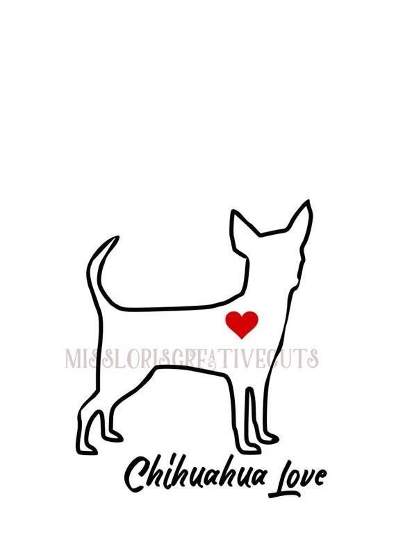 Download Chihuahua Love 3 SVG cut file t-shirts Dog car ...