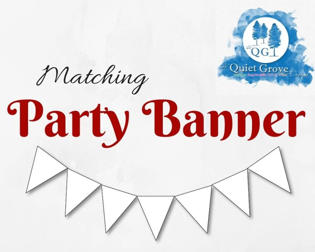 Matching PARTY BANNER - U...