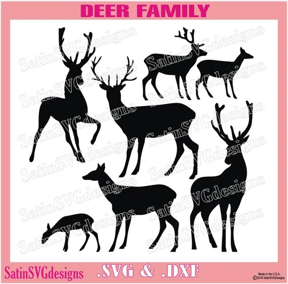 Download Deer Family Love Design Files Use Your by SatinSVGdesigns ...