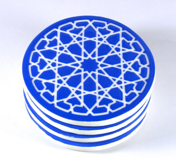 Moroccan Coasters Tile Coasters Blue and white Coasters