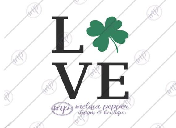 Download Love Shamrock Digital File SVG DXF EPS by MelissaPepperDesigns