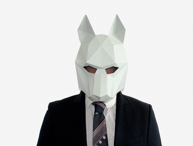 Amazing Wolf Mask Diy Halloween Costume Paper Creation