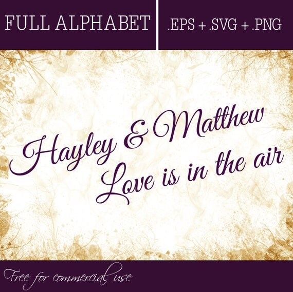 Download Love is in the air FONT Digital fonts Handwritten font