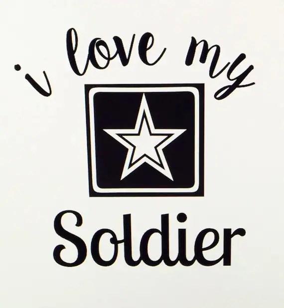 Download I Love My Soldier Vinyl Decal