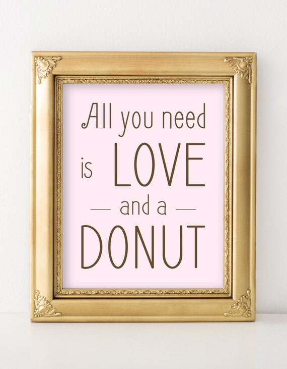 Download All You Need is Love and a DONUT Shop Sign PRINTABLE Instant