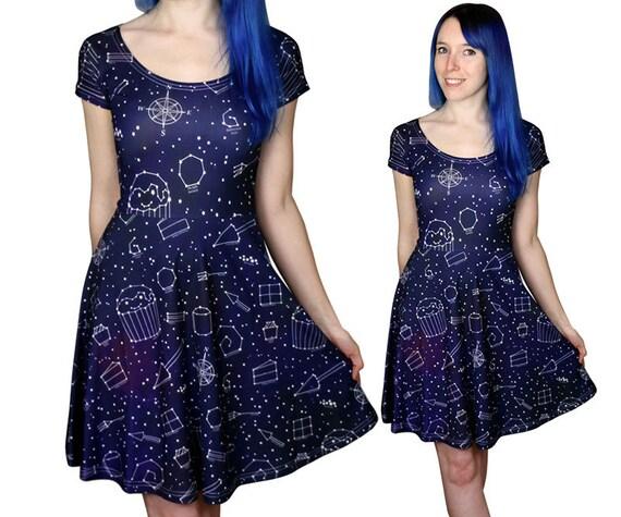 Starry Night Dress Size 6 to 1820 Galaxy Space Stars