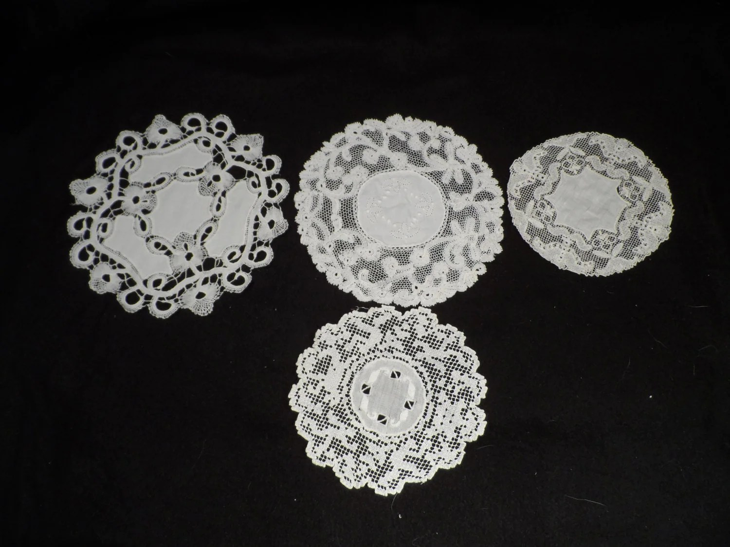 Antique Lace Doilies Linen And Crocheted Total Of 35 6