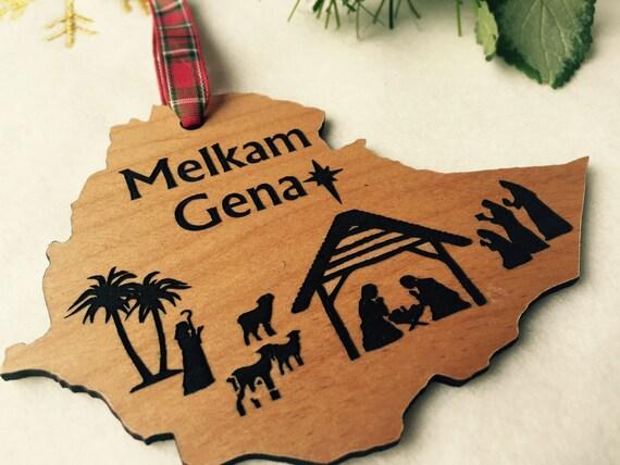 Melkam Gena Ethiopian Christmas Ornament Ethiopian Nativity