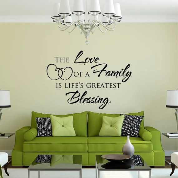 Download Family Wall Quote Decal The Love Of A Family Is Life's