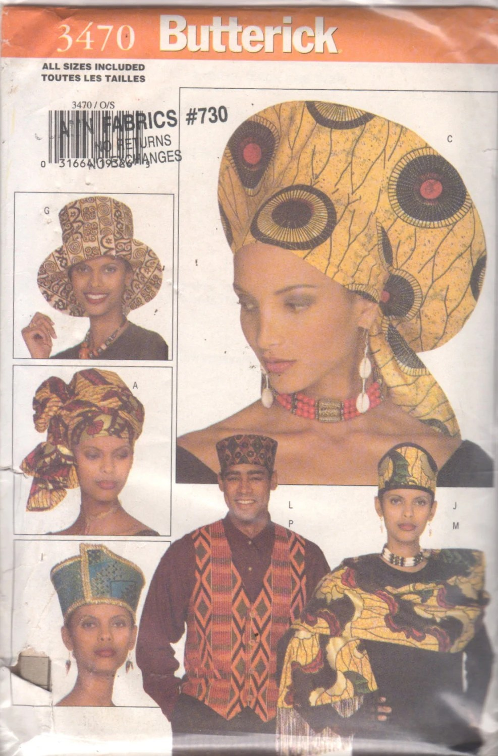Hat Patterns Sewing African