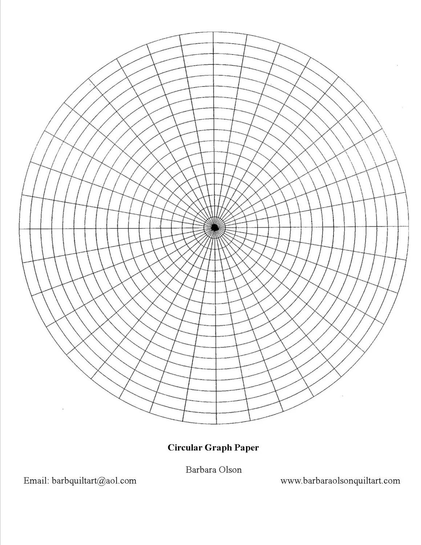 Circular Graph Paper