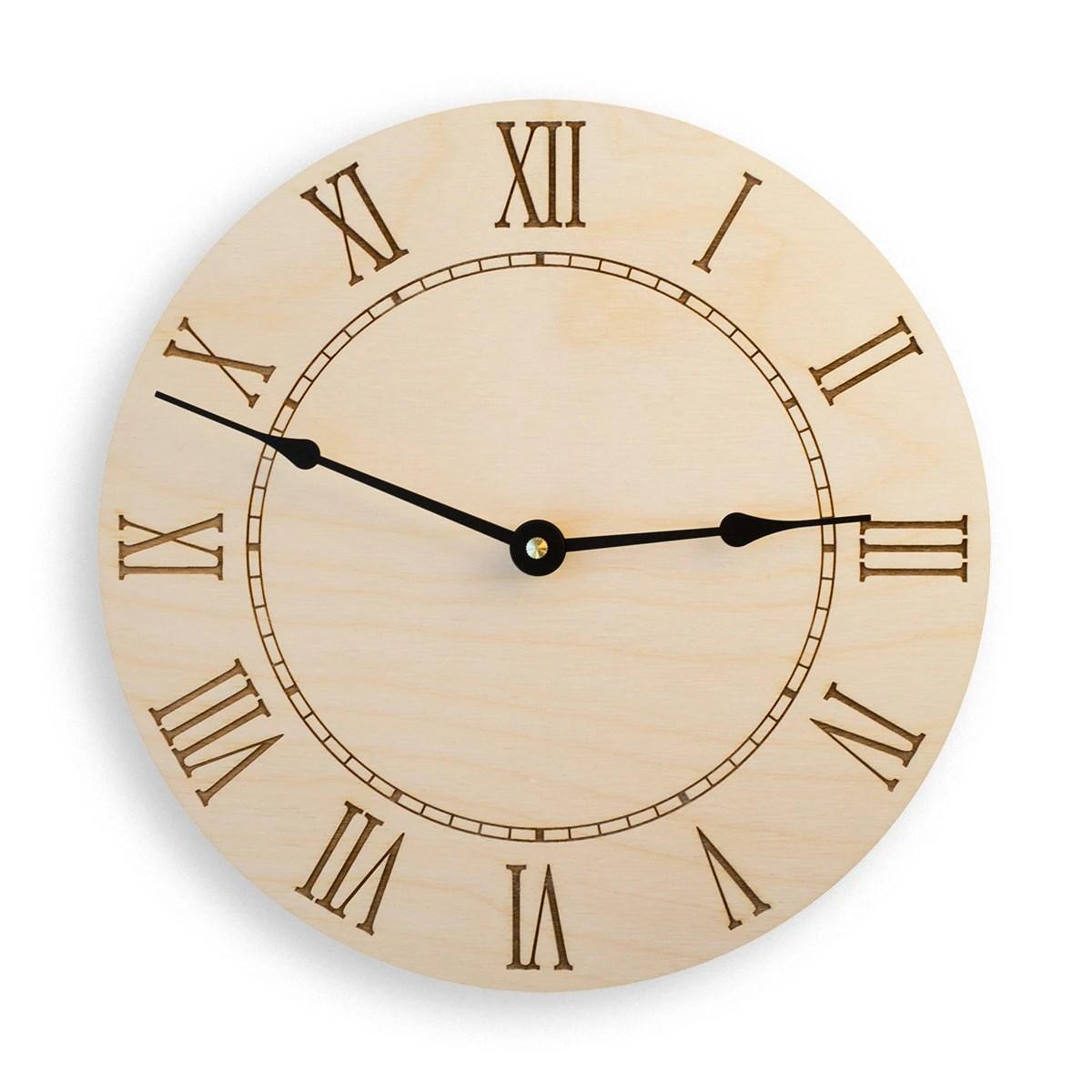 Roman Numeral Large Wall Clock Rustic Clock Modern Clock