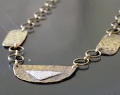Antiqued Brass Necklace w...