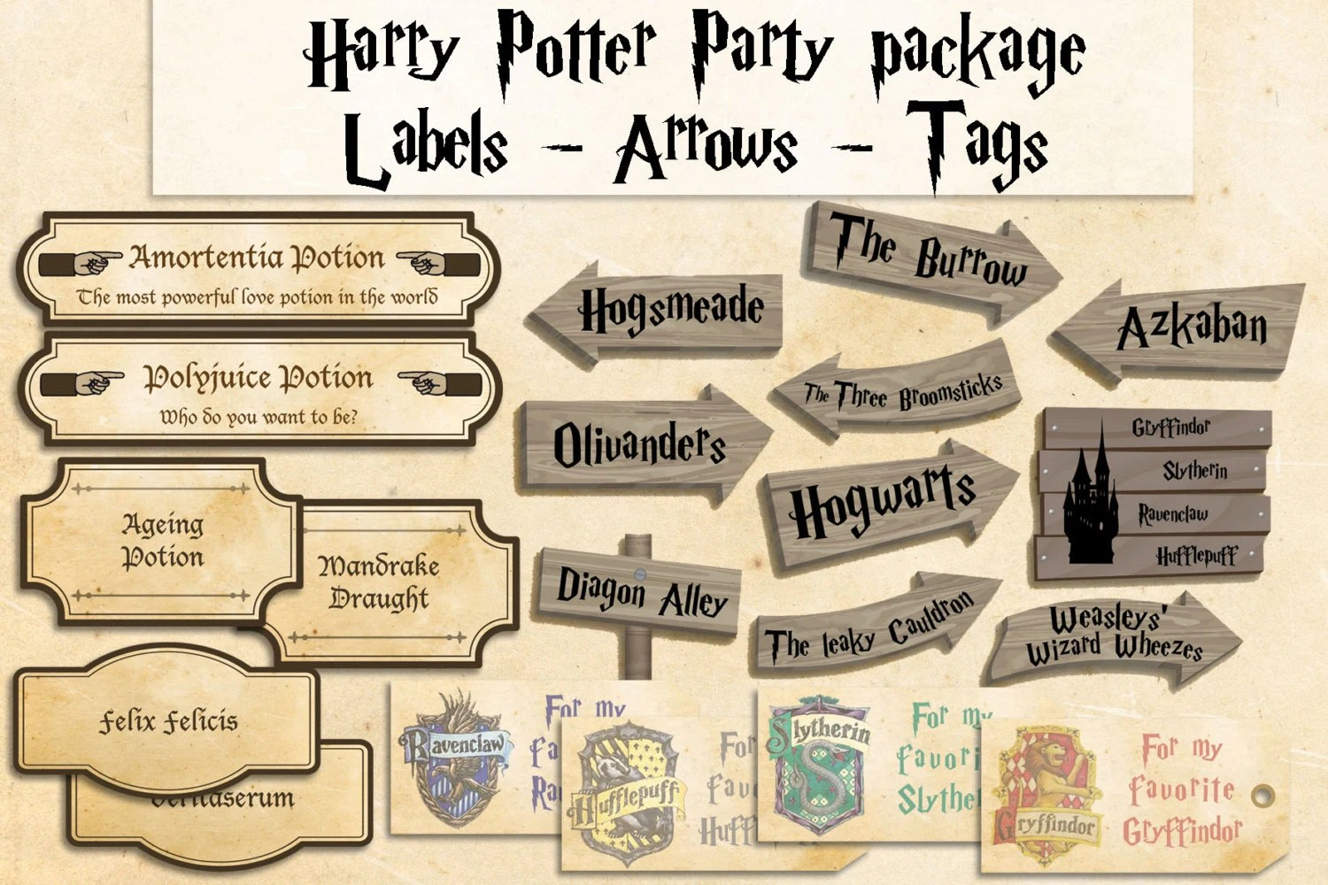 Harry Potter Printables Party Package Harry Potter Party